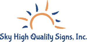 Sky High Canyon Lake Sign Company Logo