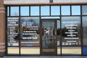 Chiropractic Office Door Vinyl
